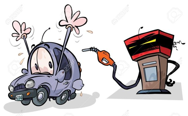 14125374-Cartoon-Gas-Pump-and-Car-Stock-Vector-station