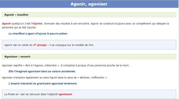 agoniser