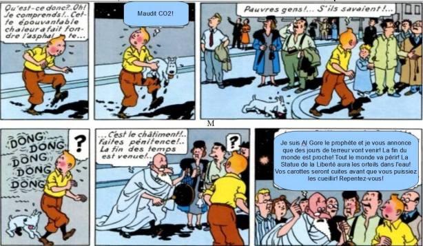 Tintin et le CO2 mystérieux