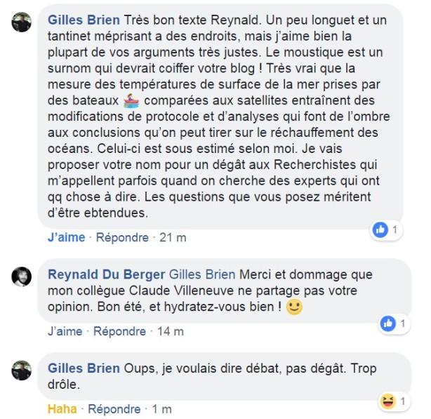 réponse Gilles Brien