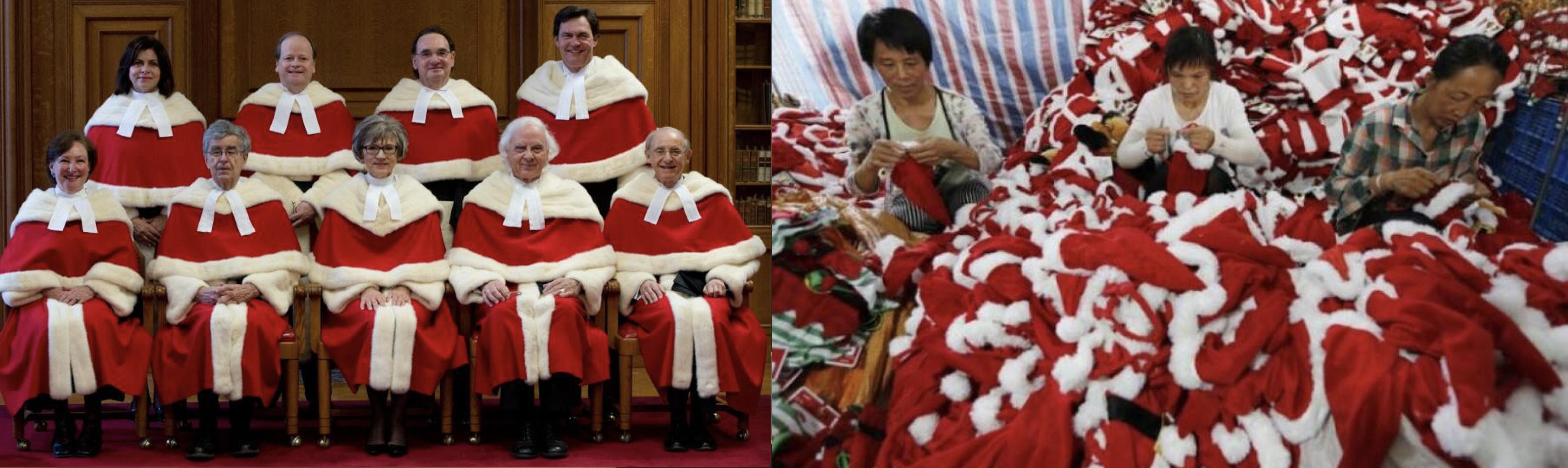 Cour et pères Noël